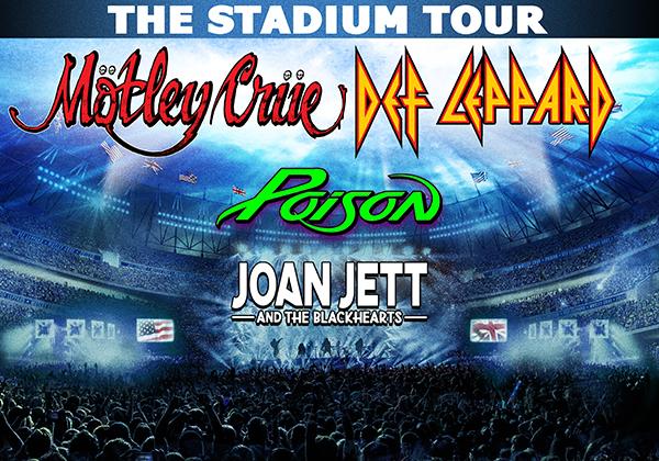 Motley Crue, Def Leppard, Posion e Joan Jett insieme per un tour negli stadi nel 2020