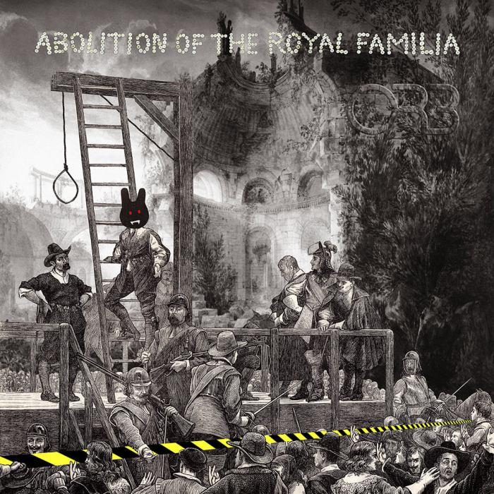 """""""Abolition of the roayl familia"""" copertina nuovo album The Orb uscita 27 marzo Cooking Vynil"""