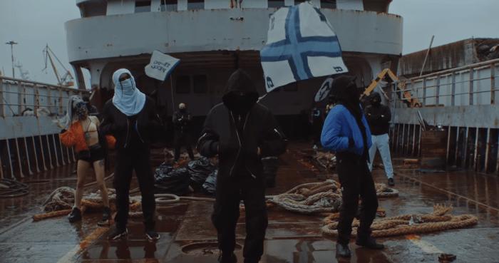"""""""We Come From napoli"""" video Liberato Robert 3D Del Naja Massive Attack Gaika"""