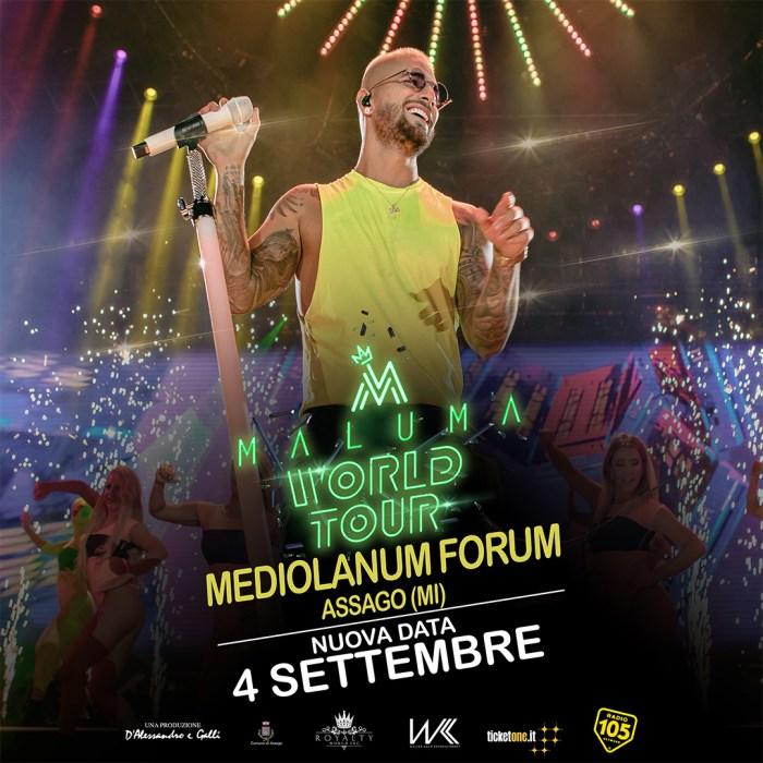 Maluma 4 settembre Milano