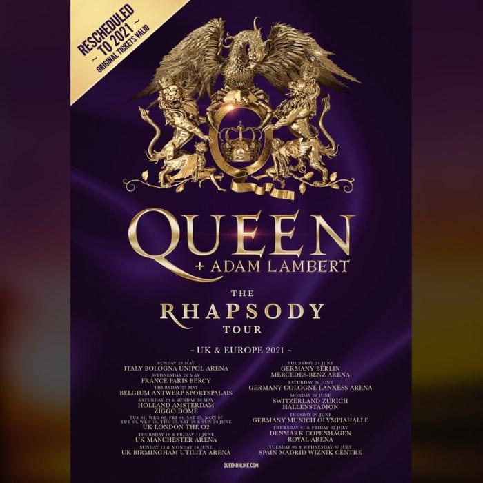 """Queen + Adam Lambert """"The Rhapsody Tour"""""""