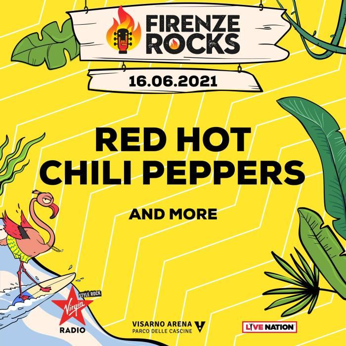 Red Hot Chili Peppers Firenze Rocks 16 giugno 2021