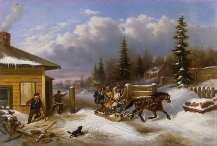 cornelius_krieghoff_thetollgate_1863