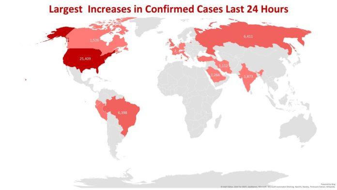 global coronavirus hot spots april 29