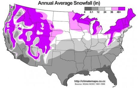 Average Annual Snowfall