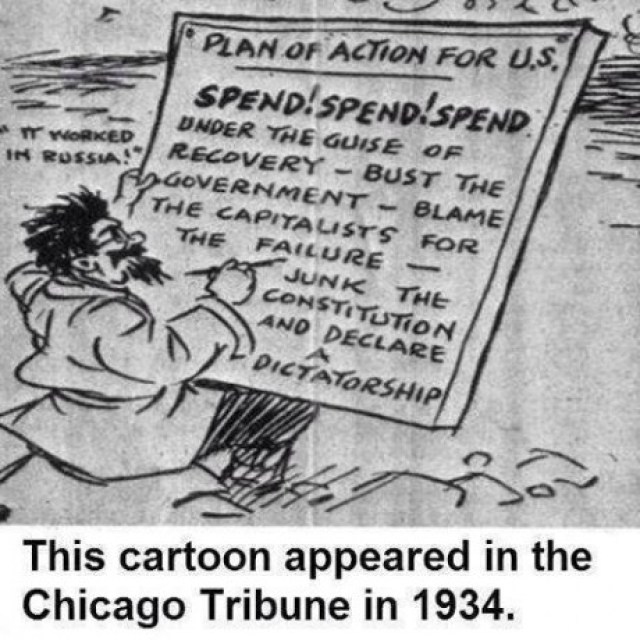 Chicago Tribune Cartoon 1934