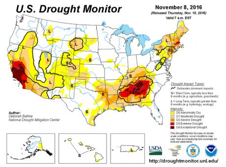 us-drought-monitor-november-8-2016