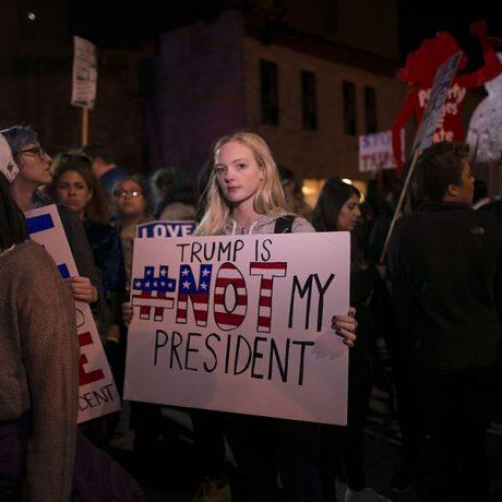 Trump Protest Sign - Photo by Fibonacci Blue