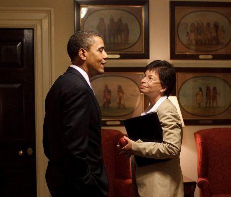 Barack Obama And Valerie Jarrett - Public Domain