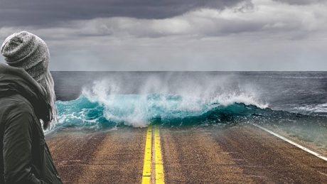 California Going Into The Ocean - Public Domain