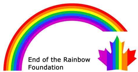 End of Rainbow Logo Print