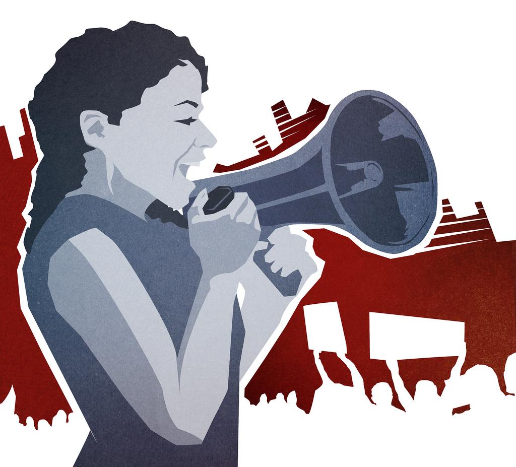 megaphone girl