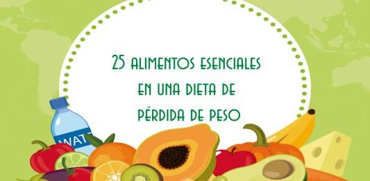 Alimentos esenciales en una dieta de pérdida de peso