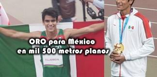 José Villarreal se lleva el oro para México en mil 500 metros planos
