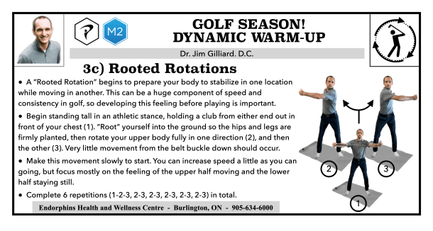 Rooted Rotation Golf Warm-up