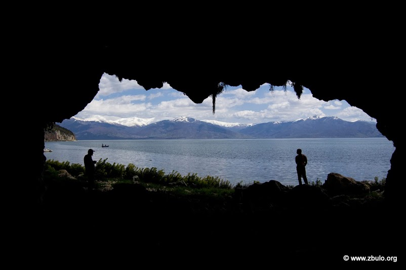 One of the larger caverns and caves near Kallamas village that line the shore.