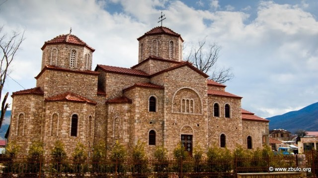 The Orthodox church in Liqneas, the village is the center of the commune that is in Macedonian called Pustec.