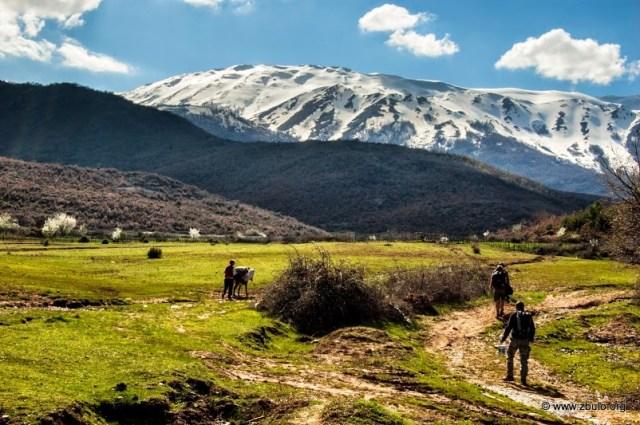 The trailhead for the Mali i Thate ridge in Gorica e Madhe (Big Gorica), walks connect to Alarup and Korita on the Ohrid side.