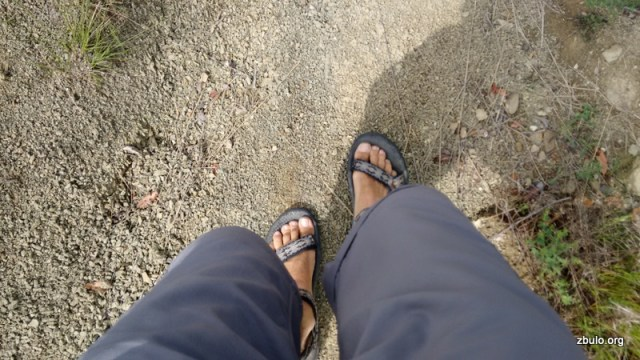 The trail is not that rocky so I walked it on sandals