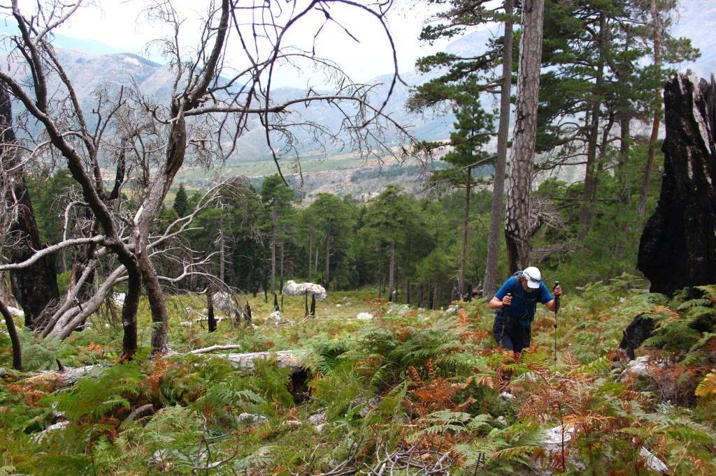Climbing towards Qafa e Shengjergjit pass