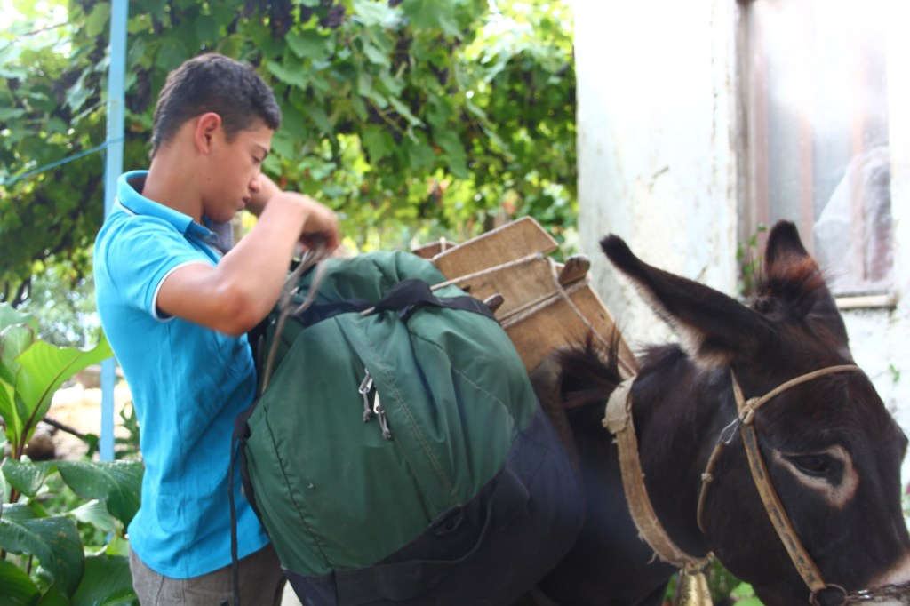 Our luggage will be transported from our host by horse