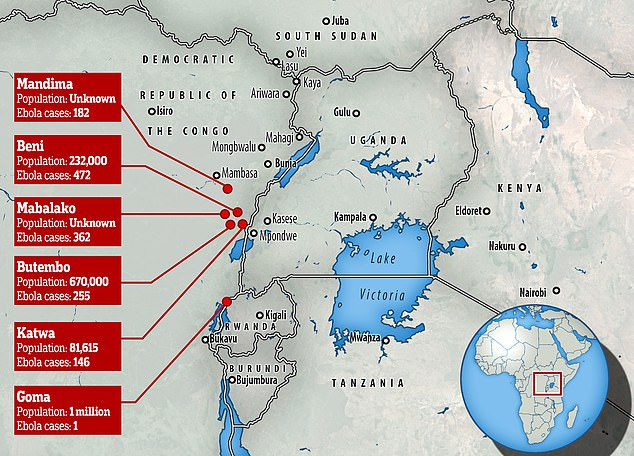 UPDATE: Ebola outbreak spreads to new city where over one million people live…