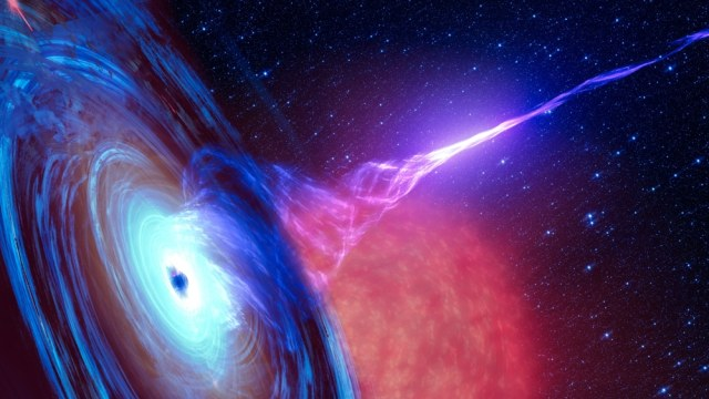 Our galaxy's black hole just released a super bright light that has left scientists baffled