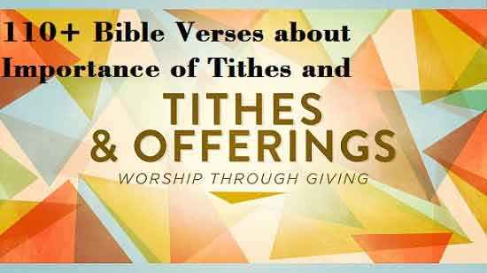 Bible Verses about giving of Tithes and Offerings