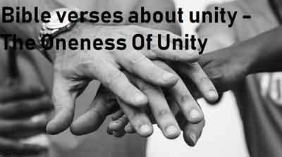 Bible verses about unity