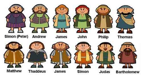 Who were the 12 disciples and what were their jobs?
