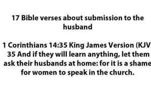 bible verses about submission to Husband