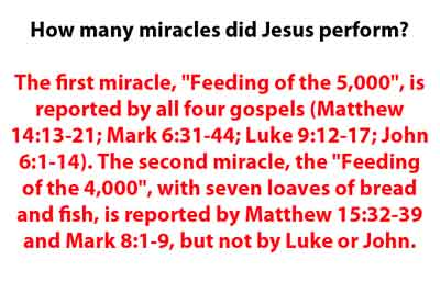 How many miracles did jesus performed