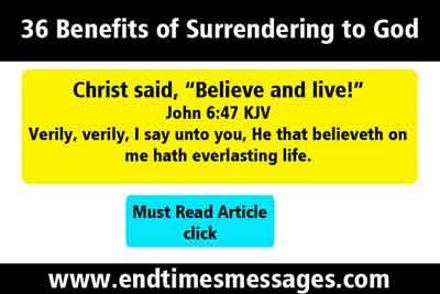 36 Benefits of Surrendering to God