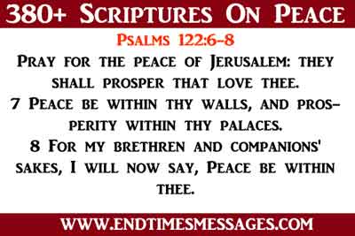 scriptures on peace.