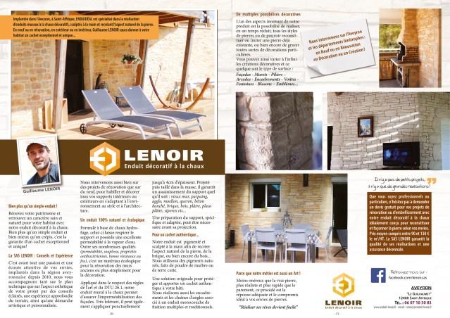 Article enduit décoratif Lenoir sept 2017