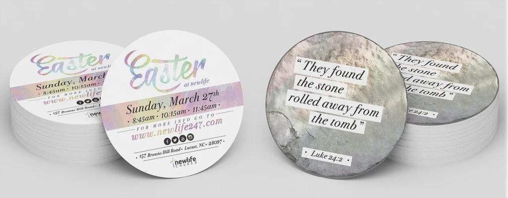 Round Easter Invites