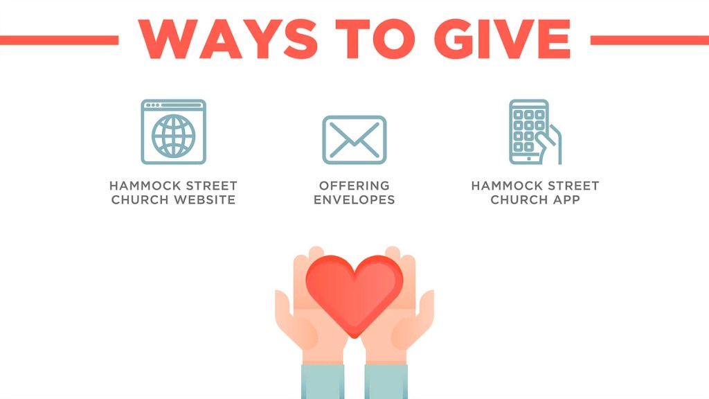 Ways to Give Church