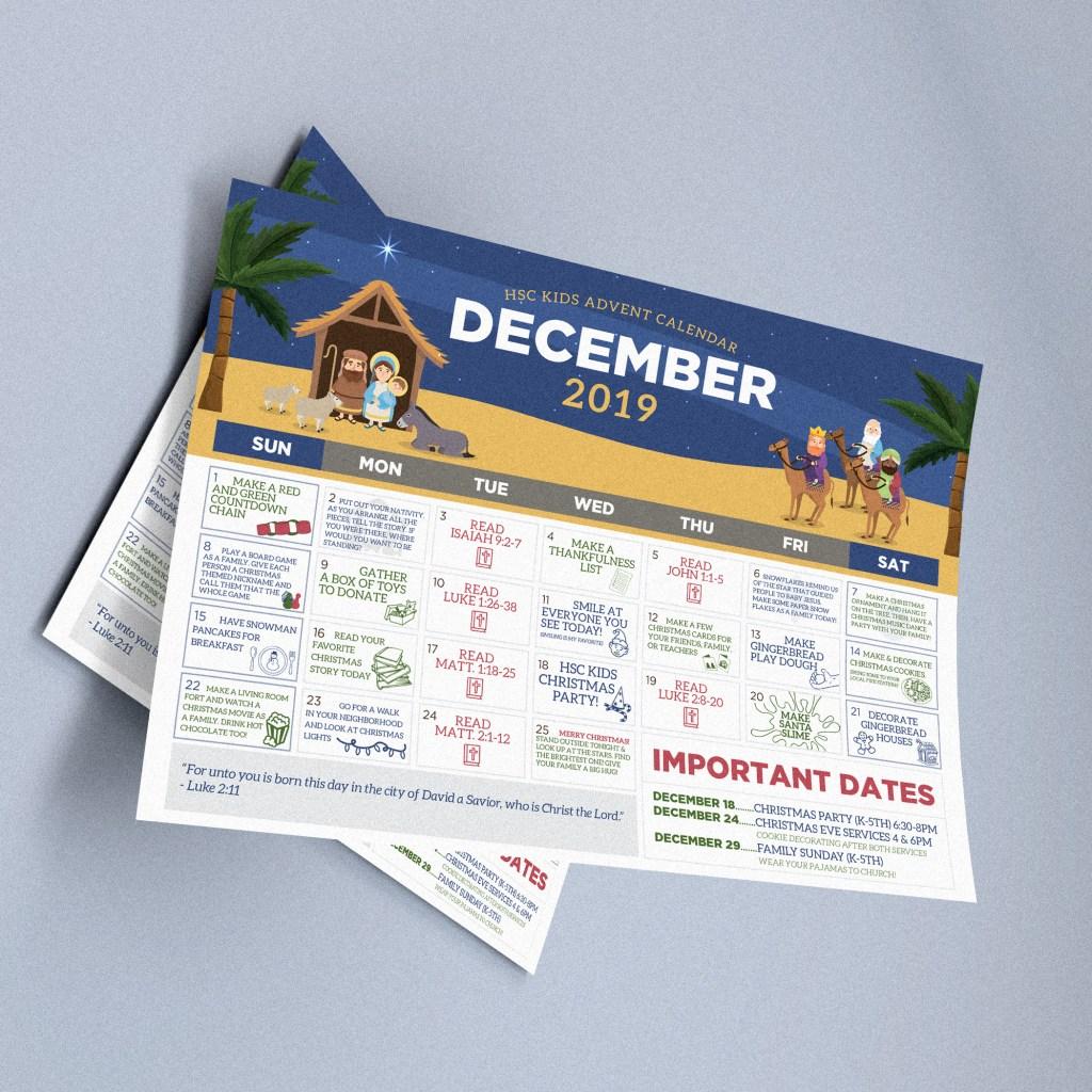 Children's Ministry Advent Calendar