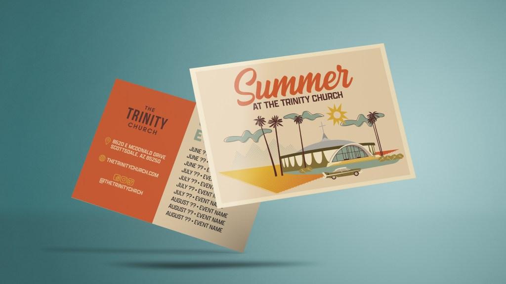 Summer At The Trinity Church Invite