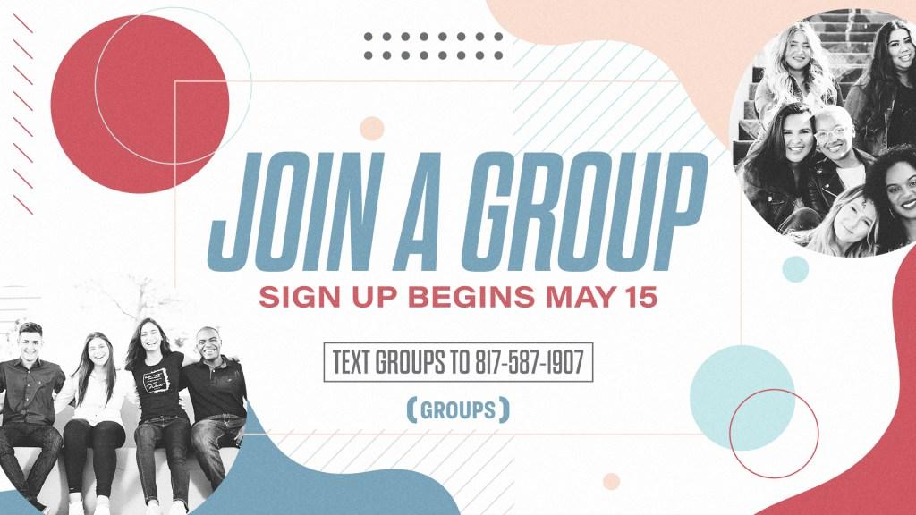 Summer Groups - Main Screen
