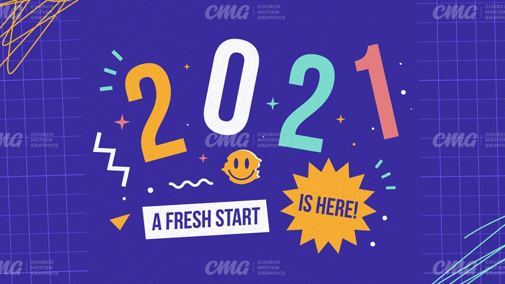 2021 A Fresh Start Is Here Colorful Shapes Illustration-Subtitle