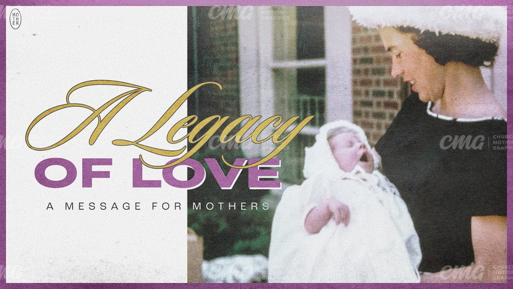 A Legacy of Love Purple Vintage Photo Typography-Subtitle