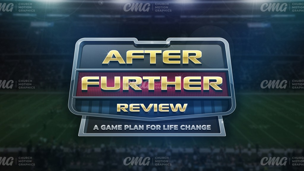 After Further Review Big Game Football Stadium Badge 3D-Subtitle