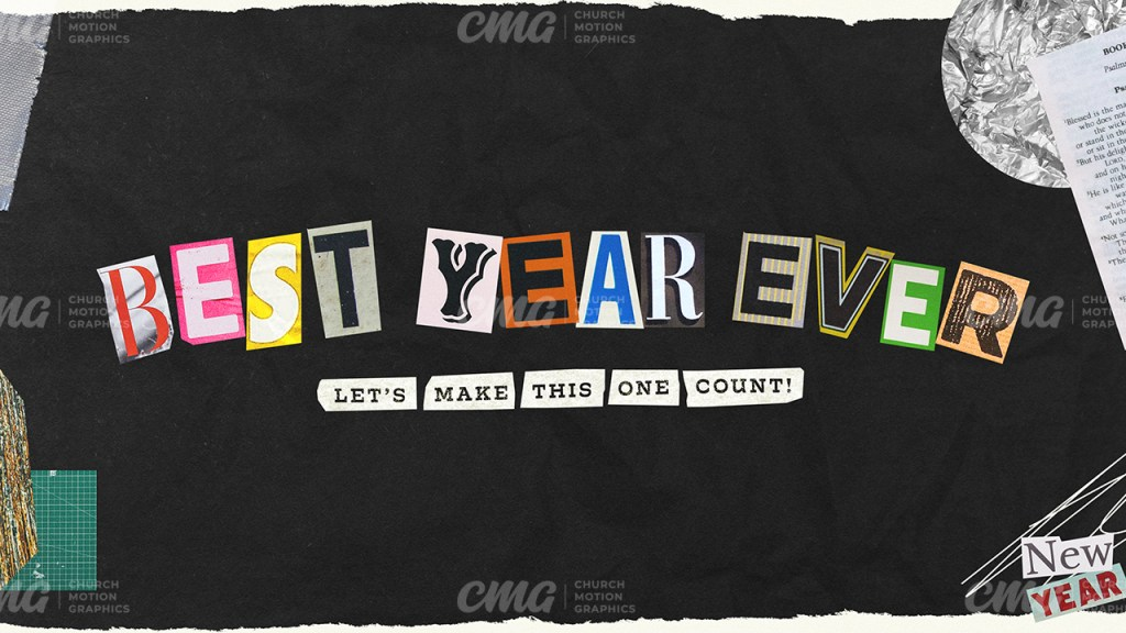 Best Year Ever Let's Make This One Count Scrapbook Letters-Subtitle