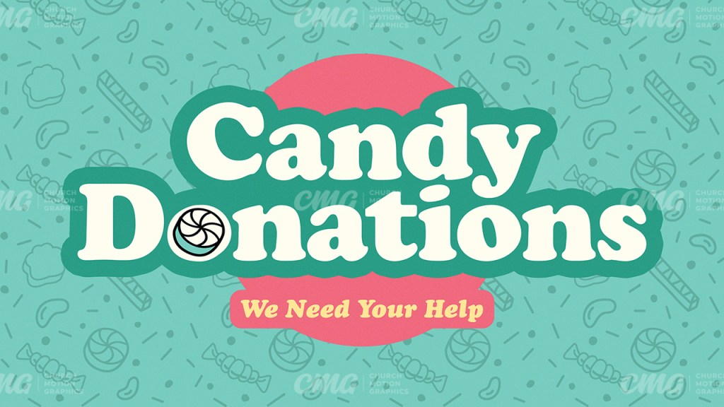 Candy Donations Bright Green Pink-Subtitle