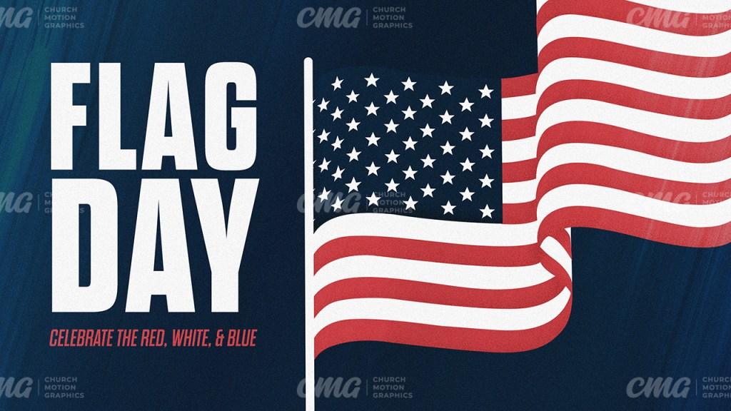 Flag Day American Waving Flag Illustration-Subtitle