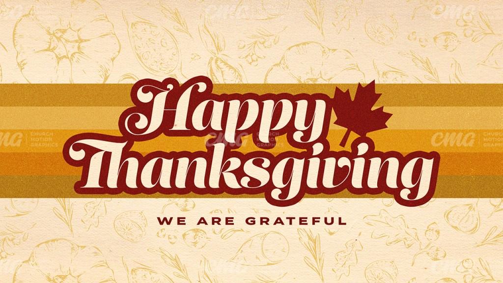 Happy Thanksgiving Retro Canada-Subtitle