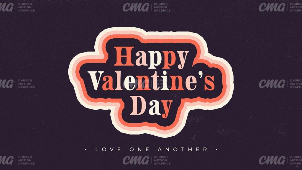 Happy Valentine's Day Dark Colorful Typography Sticker-Subtitle