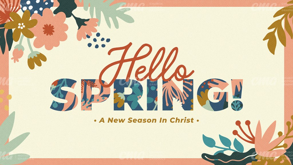 Hello Spring Floral Script Illustrated Flowers-Subtitle