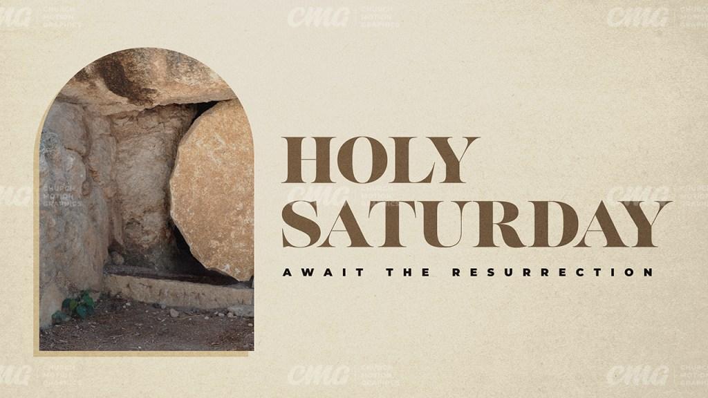 Holy Saturday Beige Stone Tomb-Subtitle